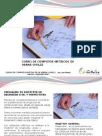 Presentacion Curso Cómputos Métricos de Obras Civiles
