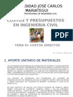 Clase 6 y 7 Costos Directos