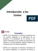 1.0 Introduccion a Los Costos