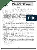 University Auditing Note