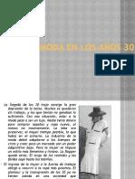 MODA EN LOS AÑOS 30