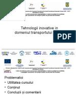 Tehnologii Inovative i Domeniul Transportului Public -Nivel Mediu