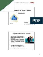 Modulo VIII - Liquidación de Obras (Parte III)