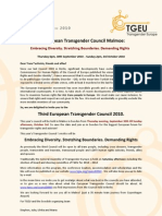 Invitation to the 3rd European Transgender Council Malmo 2010