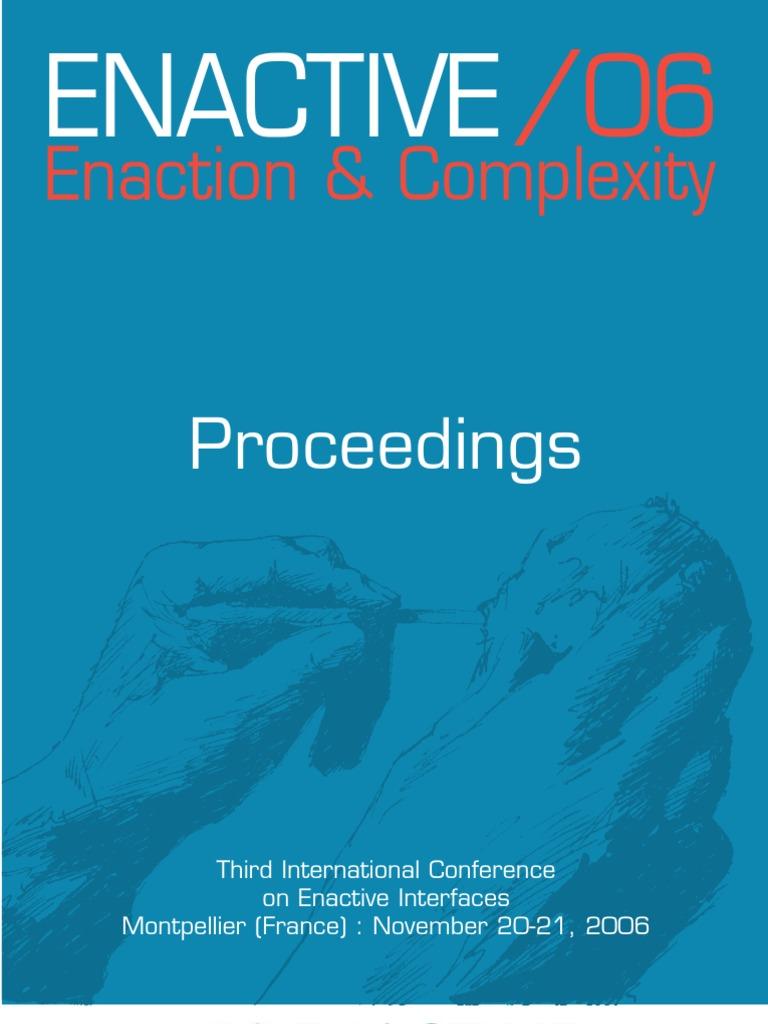 Enactive conference proceedings   Virtual Reality   Perception