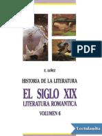 El Siglo XIX Literatura Romantica - Eduardo Ianez