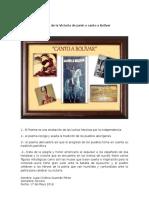 Análisis de La Victoria de Junín o Canto a Bolívar