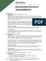 Especif.Técnicas - Equipamiento.doc