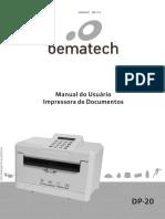 Manual Bematech DP20