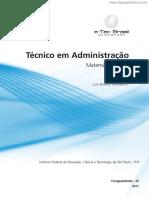 Tecnico Em Administracao Matematica Basica