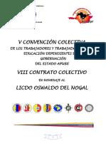 V Convención Colectiva- Viii Contrato Colectivo 02 Junio 2016. Incluye Homologación en Apure