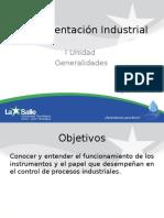 I Unidad - Generalidades de Instrumentación Industrial
