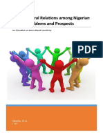 Cross-Cultural Relations among Nigerian Youths, Problems and Prospects