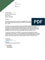 Resignation letter from Sam Song
