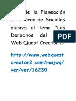 Link de La Planeación en El Área de Sociales Alusiva Al Tema LOS DERECHOS DEL NIÑO