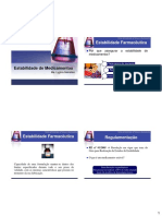 Estabilidade de Produtos Farmacêuticos