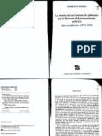 La Teoria de Las Formas de Gobierno Norberto Bobbio