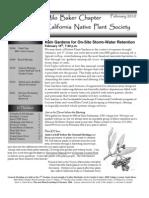 Milo Baker Chapter Newsletter, February 2010 ~ California Native Plant Society