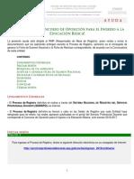 Guia para el registro profecional docente mexico