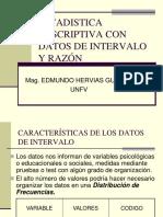 Estadistica Descriptiva Con Datos Intervalo y Razon