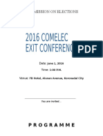 2016 Exit Conference