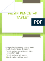 4. Mesin Pencetak Tablet