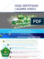 Presentasi Sosialisasi Sertifikasi Guru Agama Hindu