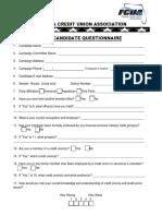 Credit Unions Questionnaire - FL