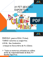 Apresentação BODY FIT Colônia de Férias - 2016 - Copia