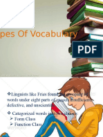 Types of Vocabulary