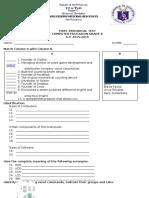 1st Periodical Test - CS8 2015-16