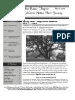 Milo Baker Chapter Newsletter, March 2009 ~ California Native Plant Society