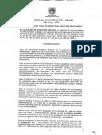 Decreto de Delegacion 0046 de 2012