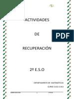 Actividades de Recuperacion Matematicas 2 ESO