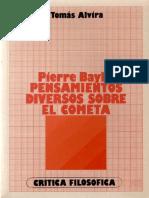 313356627 Alvira T Pierre Bayle Pensamientos Diversos Sobre El Cometa