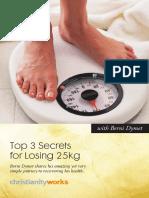 My Top 3 Secrets for Losing 25kgs eBook