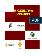 HR Policies at SONY Corporation BD