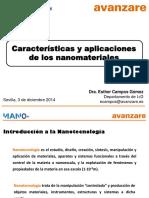 Caracteristicas y Aplicaciones Nanomateriales