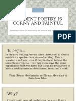 speaker detachment in poetry