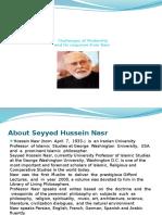 Sayyed Hussein Nasr and Modernity