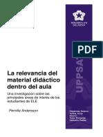 la relevancia de material didáctico dentro del aula