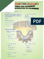 ADICION , SUSTRACCIÓN y multiplicación  DE POLINOMIOS