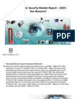 India Electronic Security Market Report - 2020