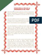 Composición Al Día de La Independencia Del Perú