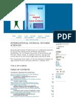 International Journal of Farm Sciences