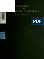 Three lectures on the science of language -Max Müller