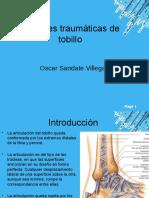 Lesiones Traumaticas de Tobillo