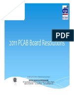 PCAB Board Resolution 2011 - 12 Pages