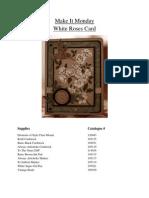 White Roses Card