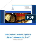 What Should a Worker Expect at Worker's Compensation Trial